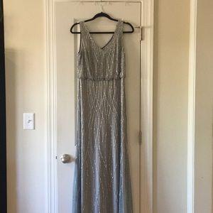Adrianna Papell bead/ sequin dressSZ10 worn once